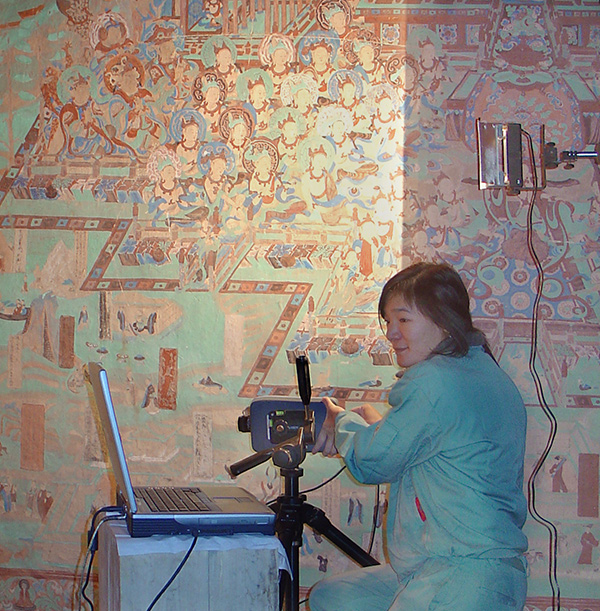 Conservation work in the cave temples at Mogao, China