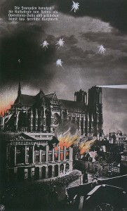 German propaganda about the Rheims cathedral bombing