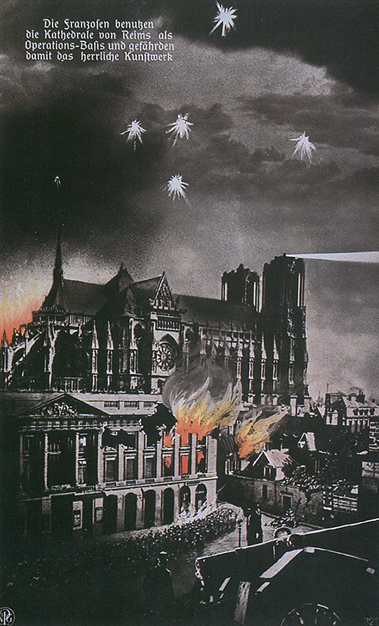 Bombing the Cathedral of Reims