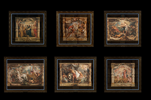 Illustration of Peter Paul Rubens panel paintings showing their original size