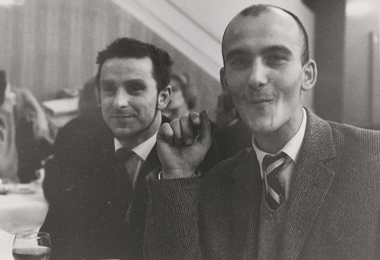 Harry Shunk (left) and Janos Kender in 1961