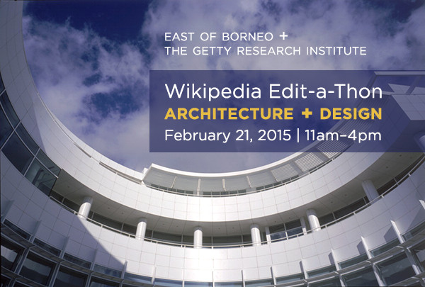 Wikipedia edit-a-thon at the Getty Research Institute