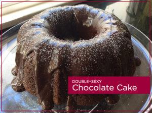 chocolate-avocado cake with ganache