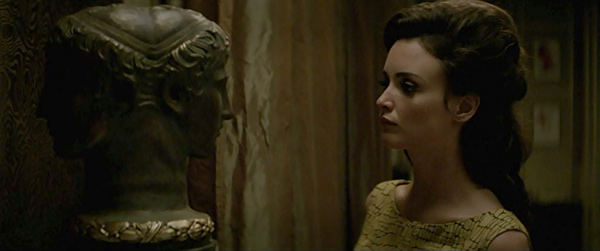 Still from Yves Saint Laurent showing Primaticcio's Double Head