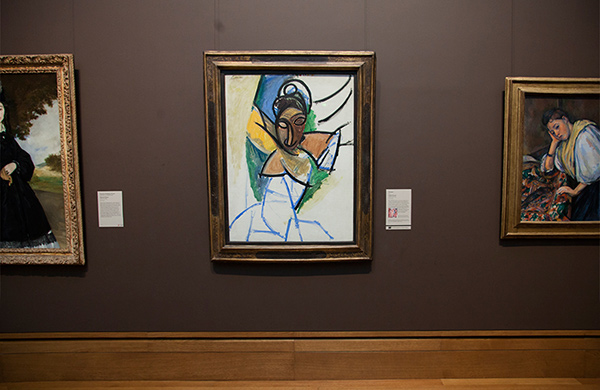 Picasso's Femme in the Getty Center galleries