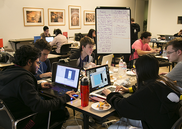 USC students at the Getty Game Jam
