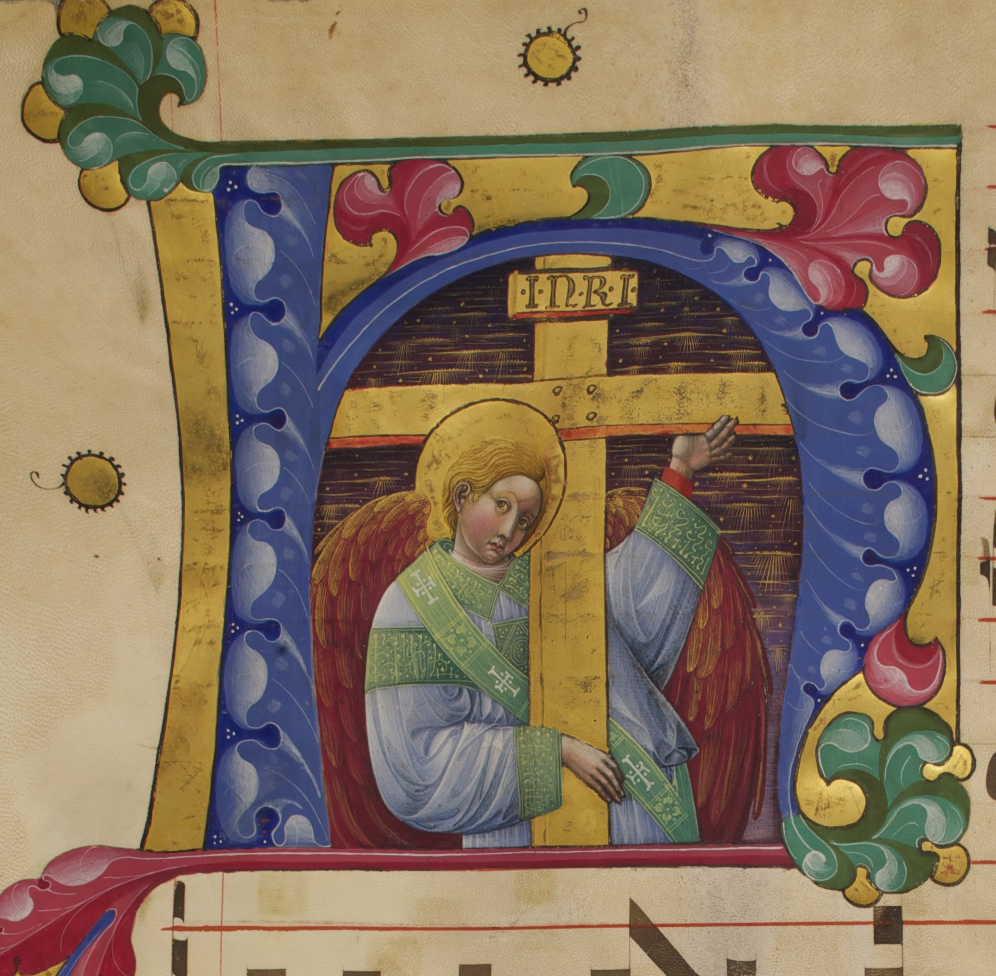 Initial M: The Calling of Saint Andrew from Antiphonal, Belbello da Pavia, about 1467–70. Venice, Abbazia di San Giorgio Maggiore, Antiphonal M, fol. 2v