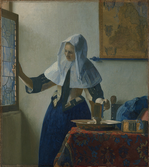 Young Woman with a Water Pitcher / Vermeer
