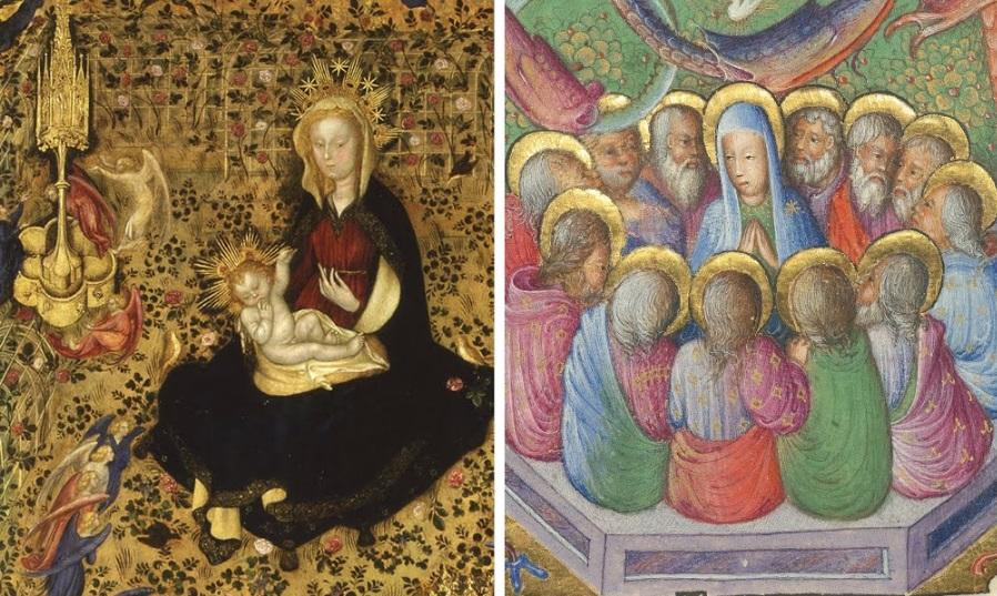 Stefano da Verona Museo di Castelvecchio, Verona Inv. 173-1B0359 (Per gentile concessione della Direzione Musei d'Arte Monumenti di Verona) (left) The J. Paul Getty Museum Ms. 95, recto (right)