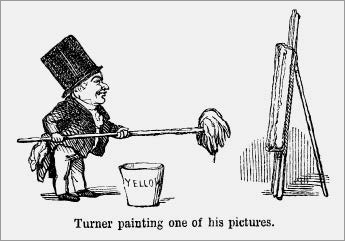 Satirical cartoon of J. M. W. Turner