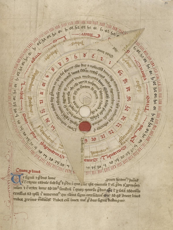 Astronomical Table with Vovelle, late 14th century, Unknown. 8 3/8 x 6 inches. J. Paul Getty Museum.