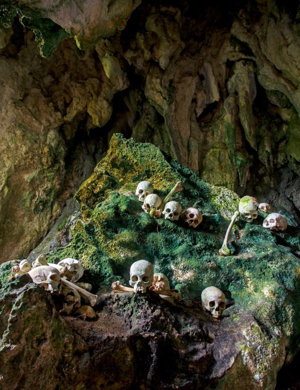 Burial cave, Sulawesi, Indonesia