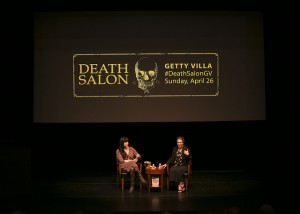 Caitlin Doughty and Judy Melinek at Death Salon Getty Villa