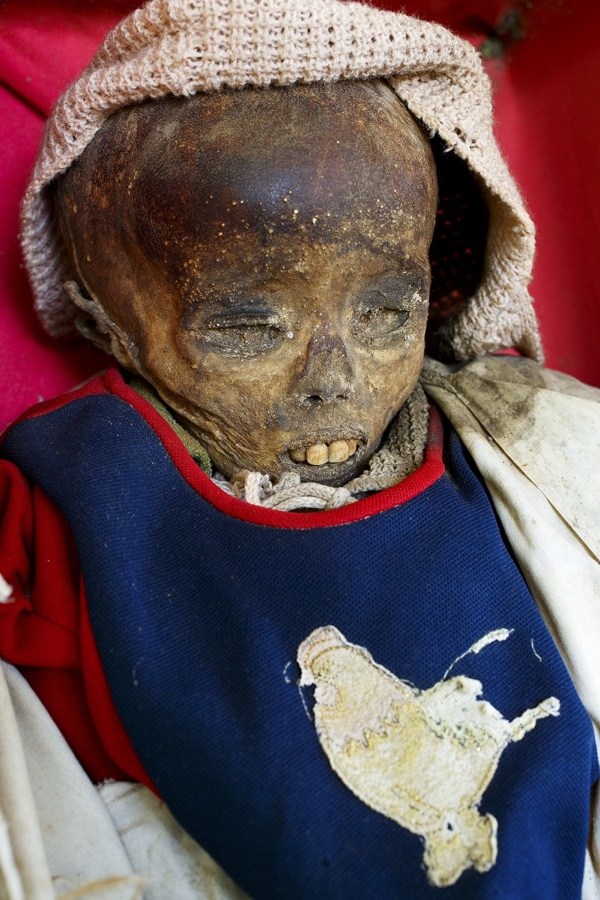 Mummified girl in Sulawesi, Indonesia