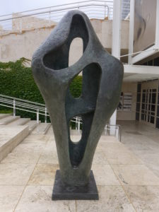 Figure for Landscape, 1960, Barbara Hepworth. Bronze, 107 x 52 x 27 in. The J. Paul Getty Museum, Gift of Fran and Ray Stark, 2005.108. © Bowness, Hepworth Estate