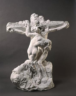 Christ and the Magdalen, ca. 1894, Auguste Rodin. Plaster and wood, 84.5 cm high. Musée Rodin. © Musee Rodin – Adam Rzepka