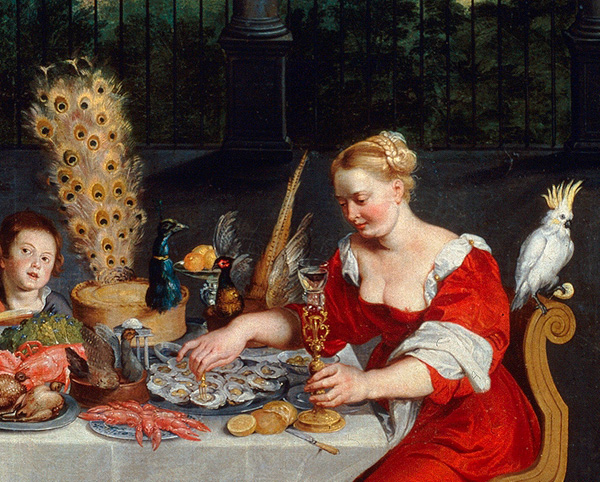 Detail of The Allegory of Senses: Hearing, Touch, and Taste / Breughel the Elder
