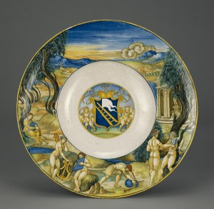 Armorial Dish with the Flaying of Marsyas