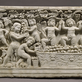 Sarcophagus with Cupids Treading Grapes