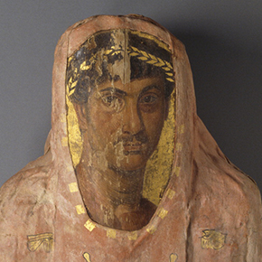 Mummy of Herakleides (detail of face)