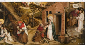 Screen capture showing The Legend of St. Joseph / follower of Robert Campin