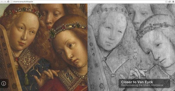 Closer to Van Eycke / screen capture of home page