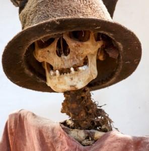 19th-century mummy, Burgio, Sicily (detail)