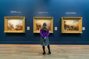 Installation view of J.M.W. Turner: Painting Set Free at the Getty Center