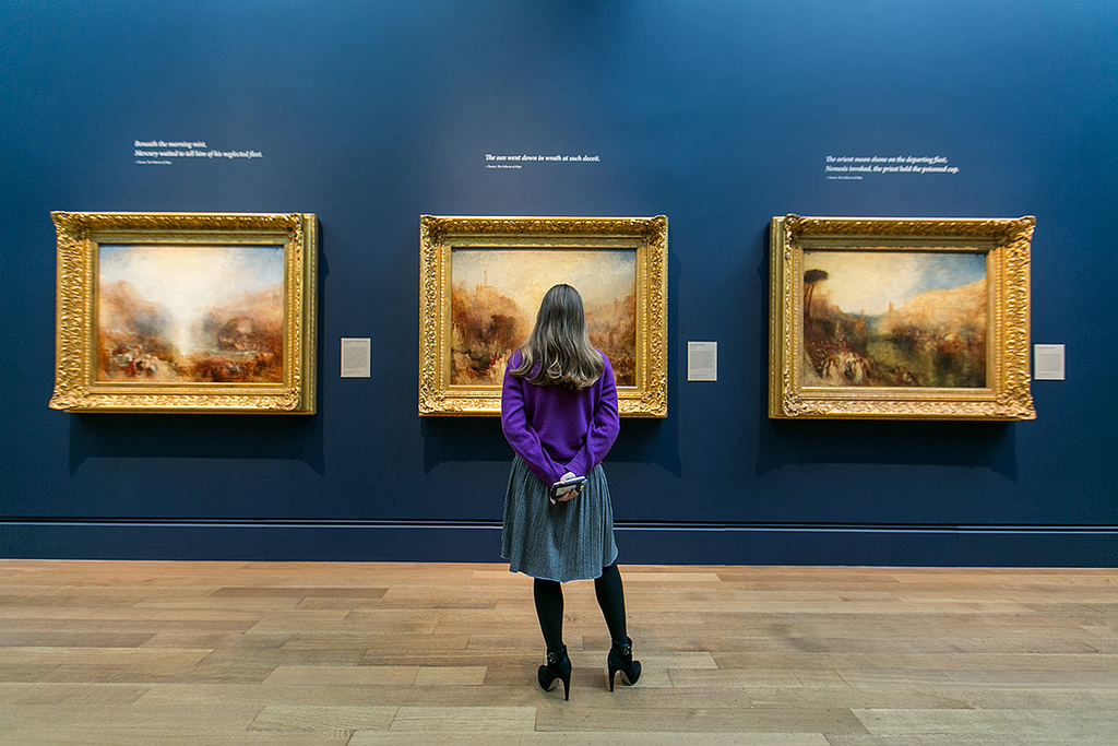 View of J.M.W. Turner exhibition
