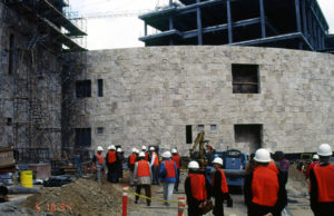 Staff visit to the Getty Conservation Institute, being constructed in the 1990s
