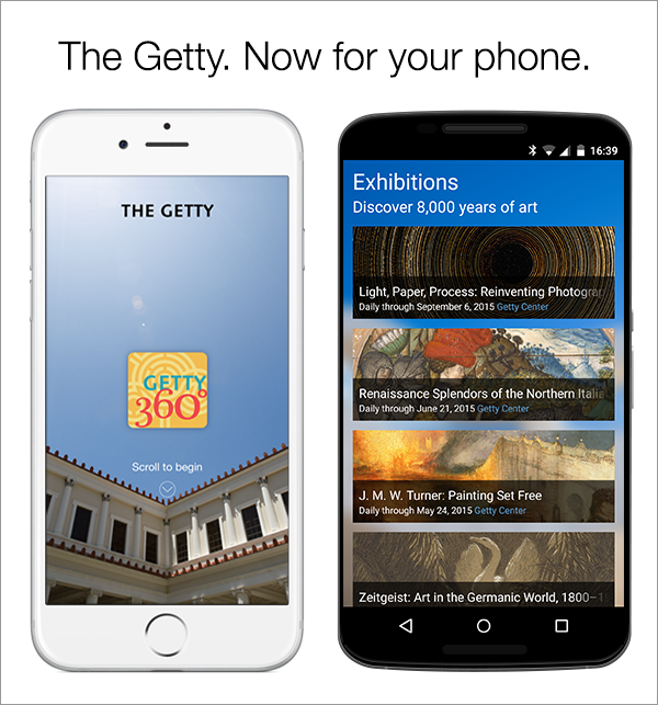 New Getty360 App Offers Getty Events and Exhibitions at a Glance