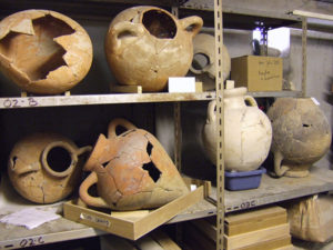 Amphorae excavated at Lattes, France