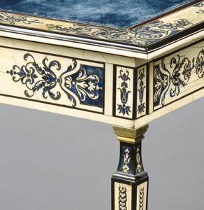 Ivory writing table (detail)