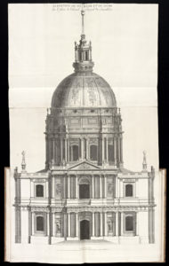 Facade of the Church of the Invalides / Pierre Lepautre after Jules Hardouin-Mansart