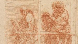 Studies of Figures behind a Balustrade / Andrea del Sarto