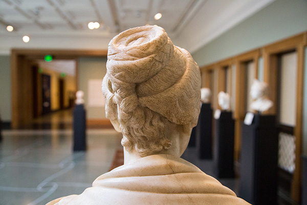 Portrait Bust of a Woman, back of head / Roman