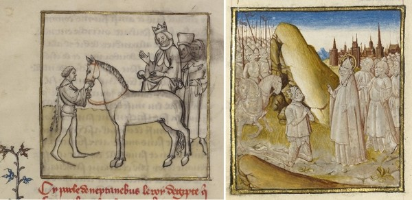 Alexander the Great with his horse and with his army