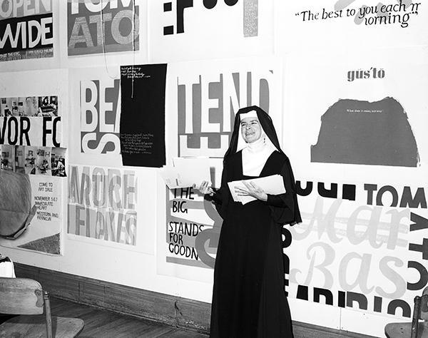 Corita Kent in 1957