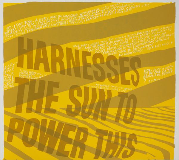 harness the sun / Corita Kent