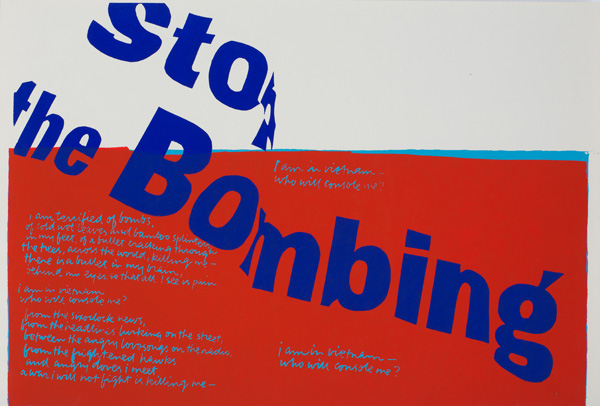stop the bombing / Corita Kent