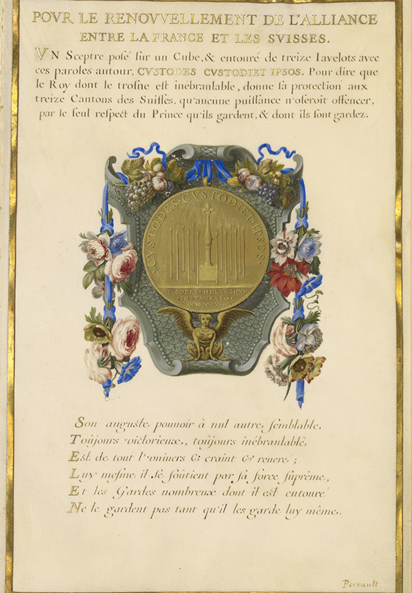 Escutcheon with a Medal / Jacques Bailly