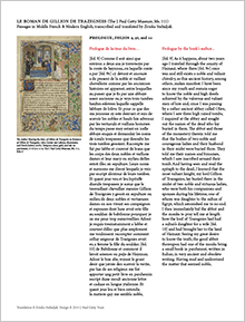 Preview of a PDF of text from the Romance of Gillion de Trazegnies