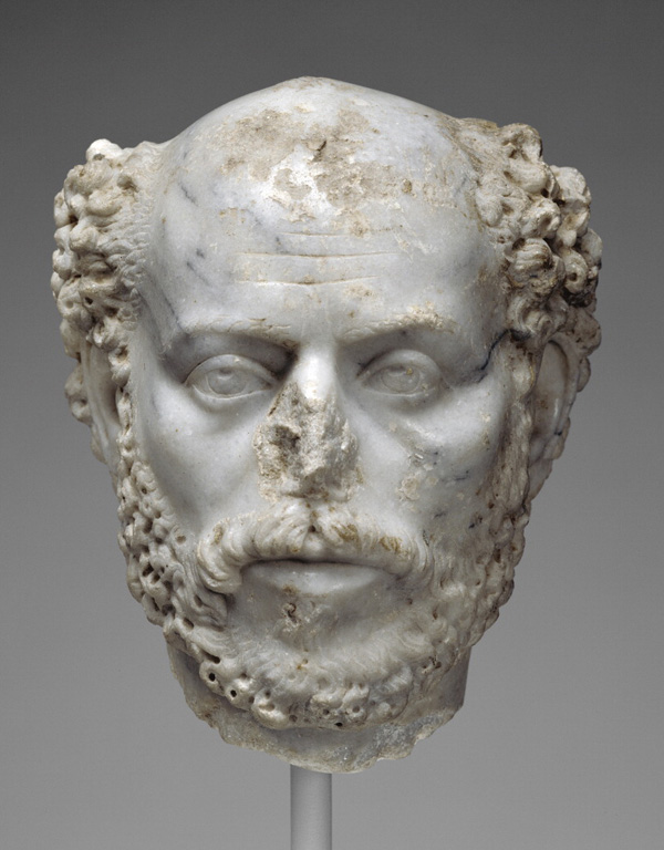 Portrait Head of a Balding Man / Roman