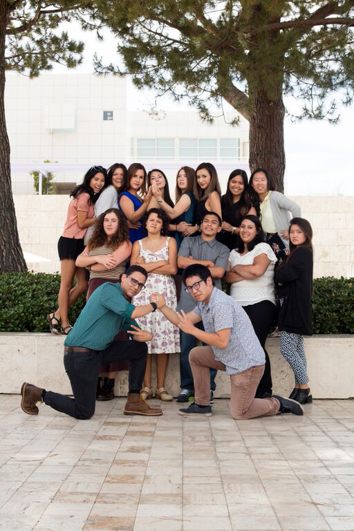 Group photo of 2015 Getty Multicultural Undergraduate Interns