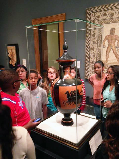 Prairie Vista Middle School students visit the Getty Villa