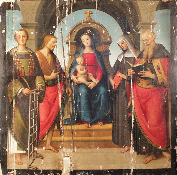 Virgin and Child with Saints / Gerino da Pistoia