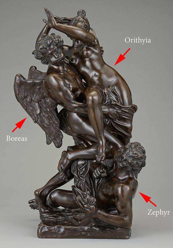 Boreas Abducting Orithyia / Marsy