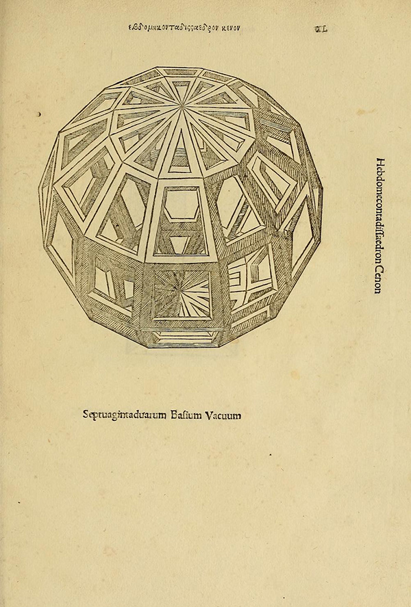 Design by Leonardo da Vinci in Divina proportione