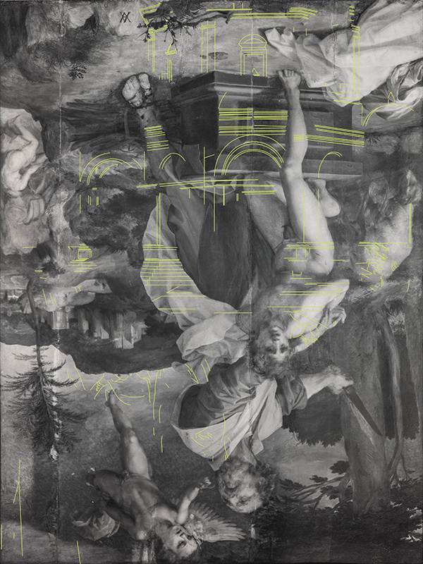 Infrared reflectogram of the The Sacrifice of Isaac