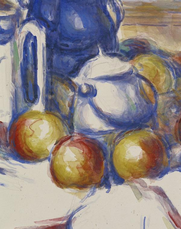 Still Life with Blue Pot - detail of pot
